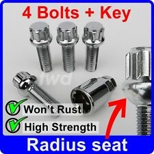 ALLOY WHEEL LOCKING BOLTS FOR VW TRANSPORTER T4 T5 (M14x1.5 RADIUS) LUG NUT [W6]