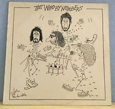 THE WHO The Who By Numbers LP 1975  Vinyl LP numbered  EXCELLENT CONDITION  c