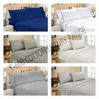 QUEEN/KING SIZE FLAT,FITTED SHEET SET WITH PILLOW CASE COTTON Thread count 600