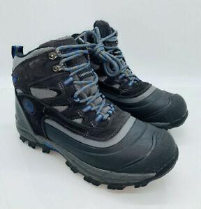 Khombu Men's Fleet Hiker Terrain Weather Rated Boots Grey Blue US 9M   #S-12