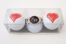 """Golf-Geschenk-Set: 2 Golfbälle """"HERZ"""" und  Schuh-Clip mit Namen oder Initialen"""