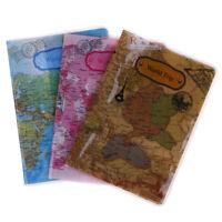 Titular del pasaporte mapa mundial pasaporte viaje Tarjeta bolsa identificaciónK