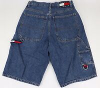 "Tommy Hilfiger 2002 Mens Size 30 Tommy Jeans 13"" Inseam Blue Denim Jean Shorts"