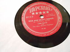 LINK DAVIS  RICE AND GRAVY BOOGIE,IMPERIAL 8018,ABOUT M-,+RICE AND GRAVY BLUES