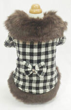 Warm Pretty Plaid Coat, Size M , Pet Dog & Cat Clothes, Apparel, Costume