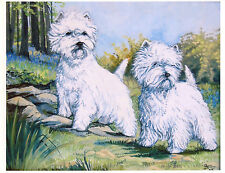 WEST HIGHLAND WHITE TERRIER WHW DOG ART LIMITED EDITION PRINT