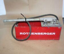 Rothenberger PRUFPUMPE RP50-60 WATER HAND PUMP TEST PRESSURE TESTER 50 BAR