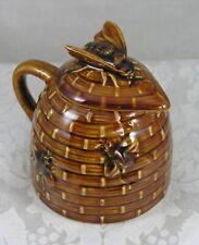 midcentury beehive & honey bee handled creamer/honey pitcher
