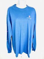 Simply Southern Womens Shirt Top Long Sleeve Crewneck Blue NWT