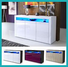 Buffet commode armoire bahut meuble laqué / bois chambre à coucher salon design