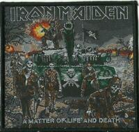 new IRON MAIDEN a matter of life & death 2020 WOVEN SEW ON PATCH sealed TANK