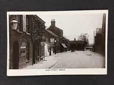 Vintage RPPC: Lincs: #T39: High Street, Burgh: Cadbury Advert Windmill 1908
