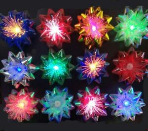 Light up Gift Bows Ribbon Glowing Bows LED Flashing Gift Bows Color Changing x 6