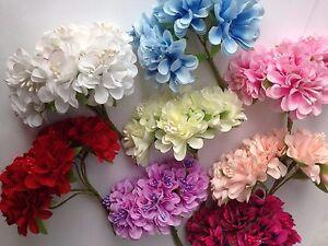 Bunch of 6  Mini Silk Artificial Rose Flowers Bouquet Flowers size 4 cm