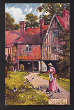 Tuck Picturesque Counties art signed Jotter Lych-Gate Penshurst Kent Uk postcard