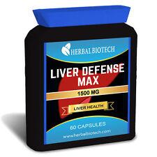 Liver Defense Max - Flush Toxins Help Sclerosis Fatty Alcohol Abuse Damage Detox