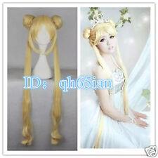 New wig golden yellow Sailor Moon Tsukino Usagi cosplay Party wigs