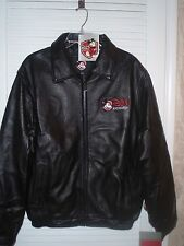 Disney D23 Expo 2011 Leather Black Mens Jacket Large Or Medium / NEW With Tags