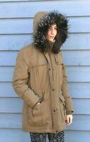 SEBBY Womens Faux-Fur Trim Hooded Anorak Jacket Sherpa Lined Parka Coat   2XL