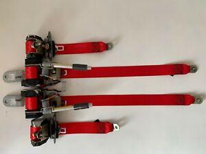 Juego 5 cinturones de seguridad Rojos Mitsubishi Lancer V seatbelt