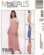 McCall's Maternity Dress and Jumper Pattern 9236 Size 8-12 UNCUT