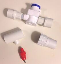 5 Nipple Chicken Water System Tees + Pressure Regulator + Garden Hose Adapter