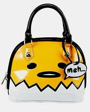 Sanrio Gudetama Big Face Lazy Egg Meh... Patent Dome Bag New With Tags!