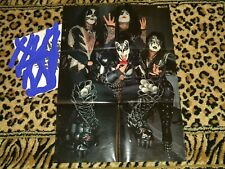 KISS JAPAN Promo 1976 Victor Poster Factory Folded Rock And Roll Over Era
