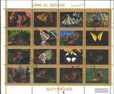 Umm al Qaiwain 1514A-1529A Minifoglio (completa Edizione) usato 1972 Farfalle