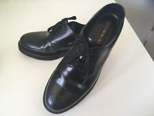 PRADA Black Formal Oxford Wingtip Brogue Shoes Women's UK 4 EU 37