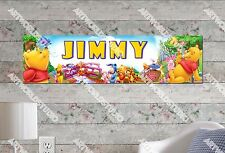 Personalized/Customized Winnie the Pooh Name Poster Wall Art Decoration Banner