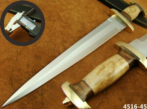 "ALISTAR 15"" CUSTOM HANDMADE DOUBLE EDGE SWISS DAGGER HUNTING KNIFE (4516-45"