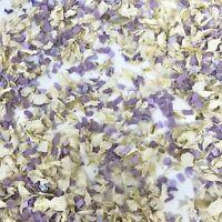 Biodegradable Wedding Confetti Petals White Delphinium + Lilac Purple Funfetti
