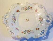 Plateau fleuri rectangulaire « Porcelaine opaque VEBG VQQE » - bord ajouré