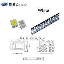 100PCS SMD SMT 2835 LED Diodes White Light 0.8 thickness PLCC-2 High Quality