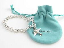 Tiffany & Co Silver Plane Airplane Charm Bracelet Bangle!