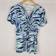 Regatta Top Size 12 Blue Short Sleeve