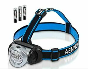 2 Aennon LED Headlamp Torch Batteries Included 4 Light Modes Camping Bikes DIY