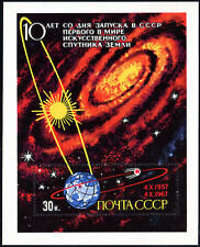 Russia 3333 S/S, MNH. Launching of Sputnik,1st Earth Satellite,10th anniv. 1967