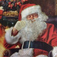 paper napkins decoupage x 2 Christmas Santa 33cm