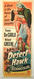 YVONNE DECARLO • DESERT HAWK • 1950 • INSERT • Folded • Original