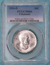 1936-D MS-66 Cincinnati Classic Commemorative Silver Half Dollar Uncirculated #1