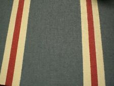 """Awning /Outdoor Canvas Stripes Blue / Red/white 32 """"5 yd"""