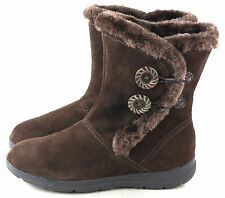 White Mountain Women's Trip Lined Suede Winter Snow Boot Dark Brown Size 6.5 M