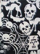 Black and White Halloween Glow in the Dark Timeless Treasures Fabric Yard