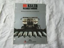 Allis-Chalmers gleaner N6 KS LTD combine brochure