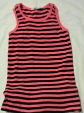 TAMMY GIRL black & orange striped TOP 10-11 years
