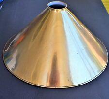 "Vintage Gold Metal Pendant Shade Lampshade 14"""