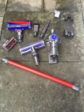 DYSON V6 total clean hoover, attachments & wall bracket *used*