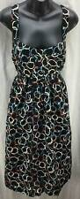 Suzi Chin Maggy Boutique Fit Full Dress 14 Brown Teal Sleeveless Women New 1946